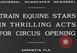 Image of Zebras and horses in circus Sarasota Florida USA, 1930, second 9 stock footage video 65675041973