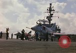 Image of USS Constellation launching aircraft during Vietnam War Yankee Station Vietnam, 1967, second 5 stock footage video 65675042047