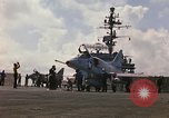 Image of USS Constellation launching aircraft during Vietnam War Yankee Station Vietnam, 1967, second 6 stock footage video 65675042047