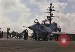 Image of USS Constellation launching aircraft during Vietnam War Yankee Station Vietnam, 1967, second 8 stock footage video 65675042047