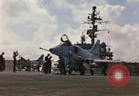 Image of USS Constellation launching aircraft during Vietnam War Yankee Station Vietnam, 1967, second 9 stock footage video 65675042047