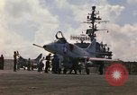 Image of USS Constellation launching aircraft during Vietnam War Yankee Station Vietnam, 1967, second 11 stock footage video 65675042047