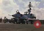 Image of USS Constellation launching aircraft during Vietnam War Yankee Station Vietnam, 1967, second 13 stock footage video 65675042047