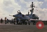Image of USS Constellation launching aircraft during Vietnam War Yankee Station Vietnam, 1967, second 14 stock footage video 65675042047