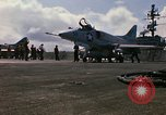 Image of USS Constellation launching aircraft during Vietnam War Yankee Station Vietnam, 1967, second 16 stock footage video 65675042047