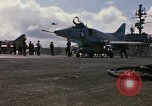 Image of USS Constellation launching aircraft during Vietnam War Yankee Station Vietnam, 1967, second 17 stock footage video 65675042047