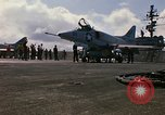 Image of USS Constellation launching aircraft during Vietnam War Yankee Station Vietnam, 1967, second 22 stock footage video 65675042047