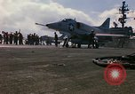 Image of USS Constellation launching aircraft during Vietnam War Yankee Station Vietnam, 1967, second 26 stock footage video 65675042047