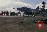 Image of USS Constellation launching aircraft during Vietnam War Yankee Station Vietnam, 1967, second 29 stock footage video 65675042047
