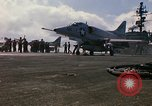 Image of USS Constellation launching aircraft during Vietnam War Yankee Station Vietnam, 1967, second 30 stock footage video 65675042047