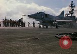 Image of USS Constellation launching aircraft during Vietnam War Yankee Station Vietnam, 1967, second 35 stock footage video 65675042047