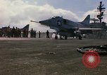 Image of USS Constellation launching aircraft during Vietnam War Yankee Station Vietnam, 1967, second 37 stock footage video 65675042047