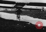 Image of man attempts to fly bicycle with wings France, 1912, second 35 stock footage video 65675042052