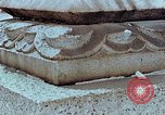 Image of granite stone lantern Hiroshima Japan, 1946, second 29 stock footage video 65675042127