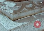 Image of granite stone lantern Hiroshima Japan, 1946, second 43 stock footage video 65675042127
