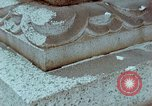 Image of granite stone lantern Hiroshima Japan, 1946, second 44 stock footage video 65675042127