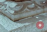 Image of granite stone lantern Hiroshima Japan, 1946, second 45 stock footage video 65675042127