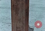 Image of wooden post Hiroshima Japan, 1946, second 17 stock footage video 65675042128