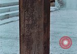 Image of wooden post Hiroshima Japan, 1946, second 21 stock footage video 65675042128