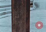 Image of wooden post Hiroshima Japan, 1946, second 22 stock footage video 65675042128