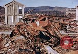 Image of wrecked steel structure Nagasaki Japan, 1946, second 27 stock footage video 65675042144