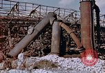 Image of collapsed metal stack Nagasaki Japan, 1946, second 2 stock footage video 65675042187