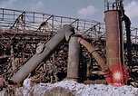 Image of collapsed metal stack Nagasaki Japan, 1946, second 4 stock footage video 65675042187