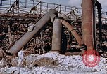 Image of collapsed metal stack Nagasaki Japan, 1946, second 10 stock footage video 65675042187