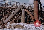 Image of collapsed metal stack Nagasaki Japan, 1946, second 13 stock footage video 65675042187
