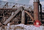 Image of collapsed metal stack Nagasaki Japan, 1946, second 14 stock footage video 65675042187