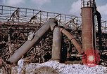 Image of collapsed metal stack Nagasaki Japan, 1946, second 15 stock footage video 65675042187