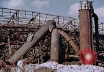 Image of collapsed metal stack Nagasaki Japan, 1946, second 16 stock footage video 65675042187