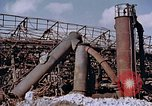 Image of collapsed metal stack Nagasaki Japan, 1946, second 17 stock footage video 65675042187