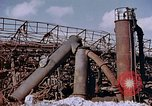 Image of collapsed metal stack Nagasaki Japan, 1946, second 18 stock footage video 65675042187
