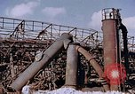 Image of collapsed metal stack Nagasaki Japan, 1946, second 19 stock footage video 65675042187