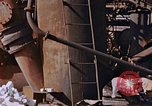 Image of collapsed metal stack Nagasaki Japan, 1946, second 23 stock footage video 65675042187