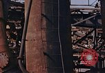 Image of collapsed metal stack Nagasaki Japan, 1946, second 29 stock footage video 65675042187