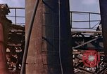 Image of collapsed metal stack Nagasaki Japan, 1946, second 31 stock footage video 65675042187