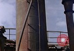 Image of collapsed metal stack Nagasaki Japan, 1946, second 34 stock footage video 65675042187