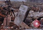 Image of collapsed metal stack Nagasaki Japan, 1946, second 56 stock footage video 65675042187