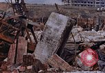 Image of collapsed metal stack Nagasaki Japan, 1946, second 58 stock footage video 65675042187