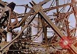 Image of collapsed metal stack Nagasaki Japan, 1946, second 61 stock footage video 65675042187
