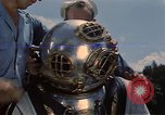 Image of deep sea diver United States USA, 1943, second 15 stock footage video 65675042215