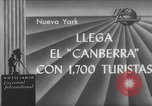 Image of British liner Canberra New York United States USA, 1962, second 1 stock footage video 65675042224