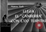 Image of British liner Canberra New York United States USA, 1962, second 4 stock footage video 65675042224