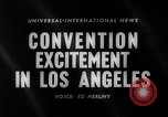 Image of 1960 Democratic convention Los Angeles California USA, 1960, second 2 stock footage video 65675042232