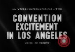 Image of 1960 Democratic convention Los Angeles California USA, 1960, second 3 stock footage video 65675042232