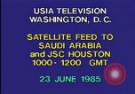 Image of satellite launch from space shuttle Washington DC USA, 1985, second 1 stock footage video 65675042299