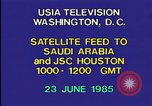 Image of satellite launch from space shuttle Washington DC USA, 1985, second 4 stock footage video 65675042299