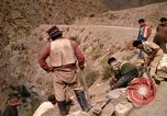Image of construction of a road Bolivia, 1966, second 60 stock footage video 65675042328